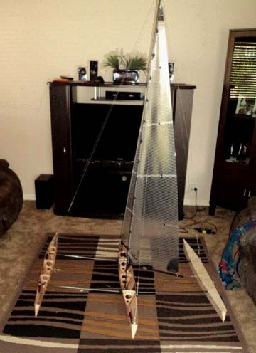 RC toy sail boat