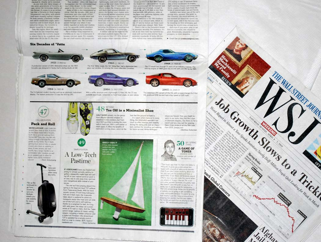 rc sailboat in Wall Street Journal